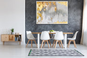 Luxury Gold Foil Oil Painting on Canvas | Abstract Wall Art - le d'ARTe