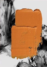 Orange Blob on a Wall Abstract Oil Painting | Graffiti Canvas Wall Art - le d'ARTe