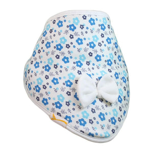 White & Blue Flowers Cutie Collar