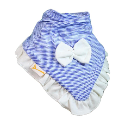 Blue & White Gingham Cutie Collar