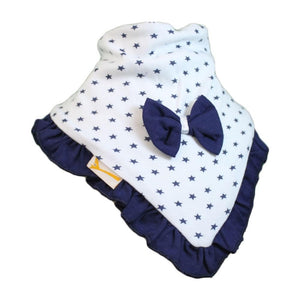 White & Navy Stars Cutie Collar