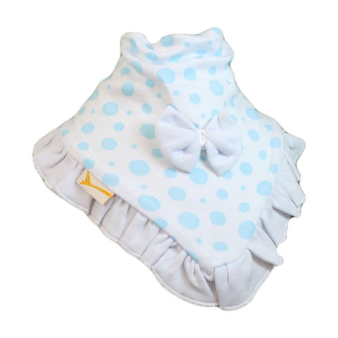 White & Light Blue Spots Cutie Collar