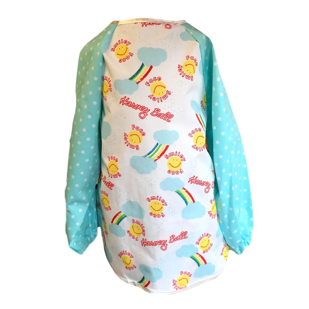 Smiley Face Blue Dotty Messy Apron