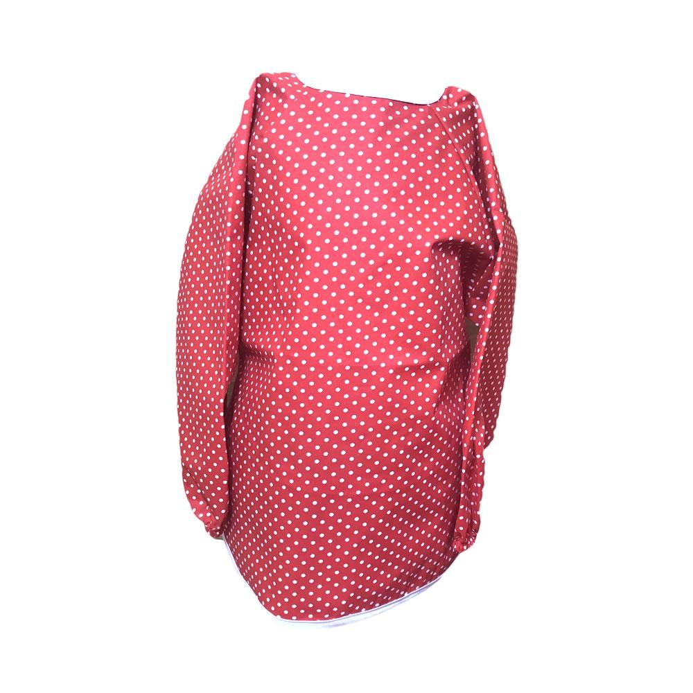 Red Spotty Messy Apron
