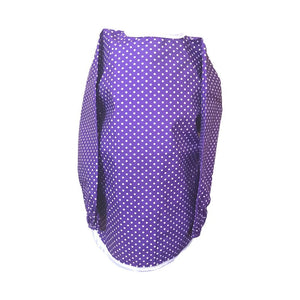 Purple Spotty Messy Apron