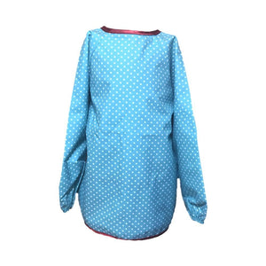 Blue Spotty Messy Apron