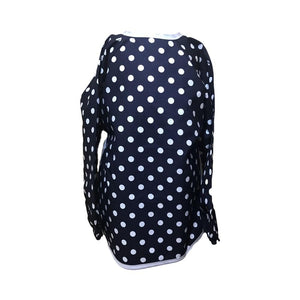 Navy Spotty Messy Apron