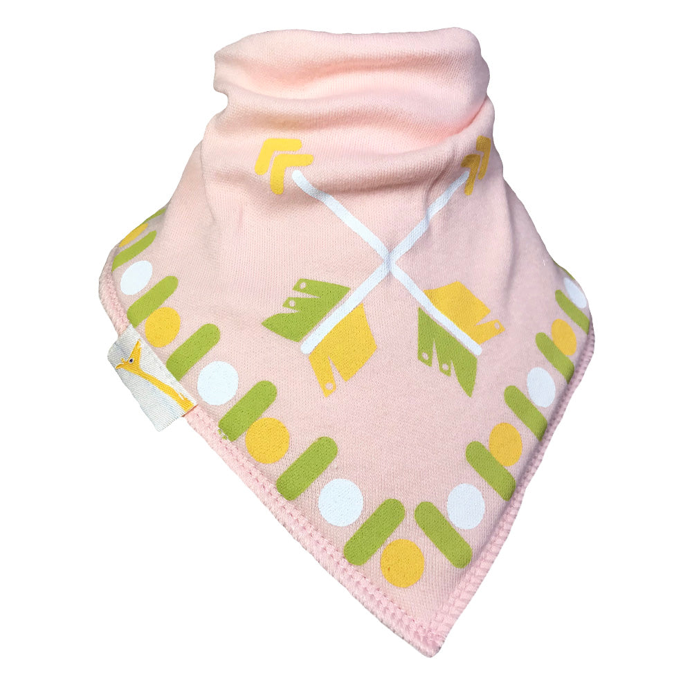 Pale Pink Arrows Bandana Bib