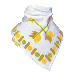 White Arrows Bandana Bib