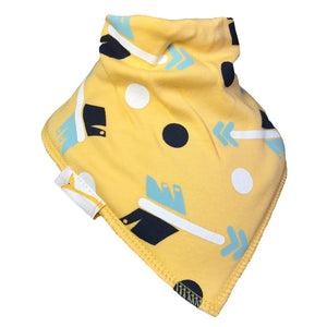 Yellow Arrows & Dots Bandana Bib