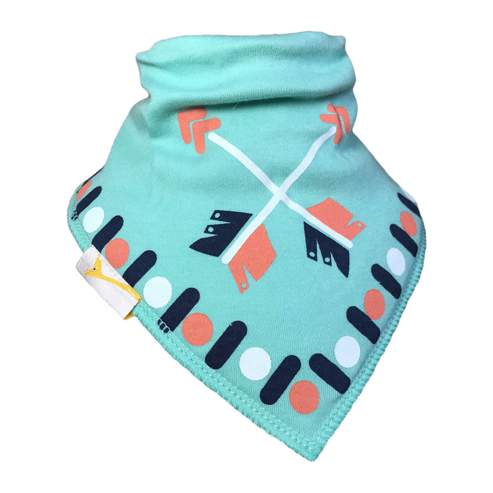 Teal Arrows Bandana Bib