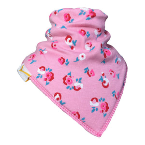 Pink Flowers In The Garden Bandana Bib