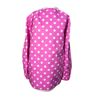 Bright Pink Spotty Messy Apron