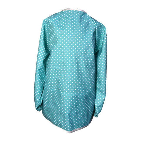 Teal Small Spots Messy Apron