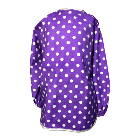 Perfect Purple Spotty Messy Apron