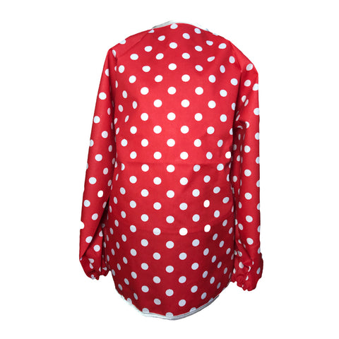 Red Large Spotty Messy Apron