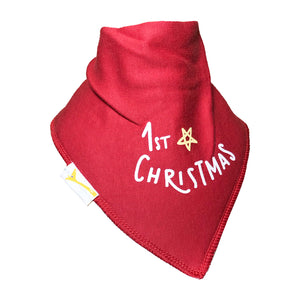 Red My 1st Christmas Bandana Bib
