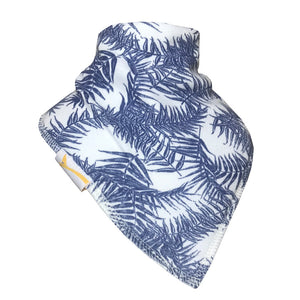 Navy Leaves Bandana Bib