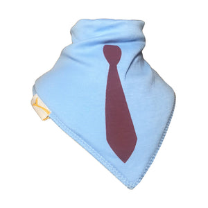 Light Blue Tie Bandana Bib