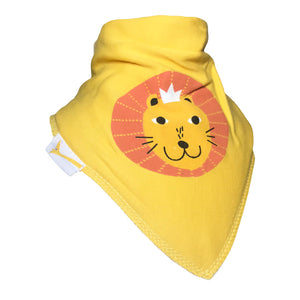 Yellow Lion Bandana Bib