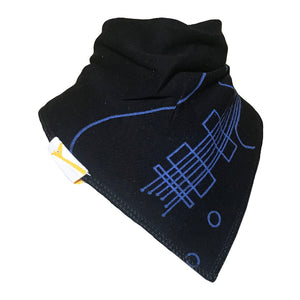 Black Guitar Bandana Bib