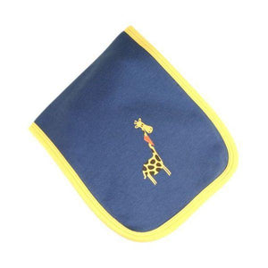 Blue & Yellow Giraffe Burp Cloth