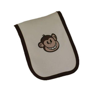 Cream Cheeky Monkey Burp Cloth