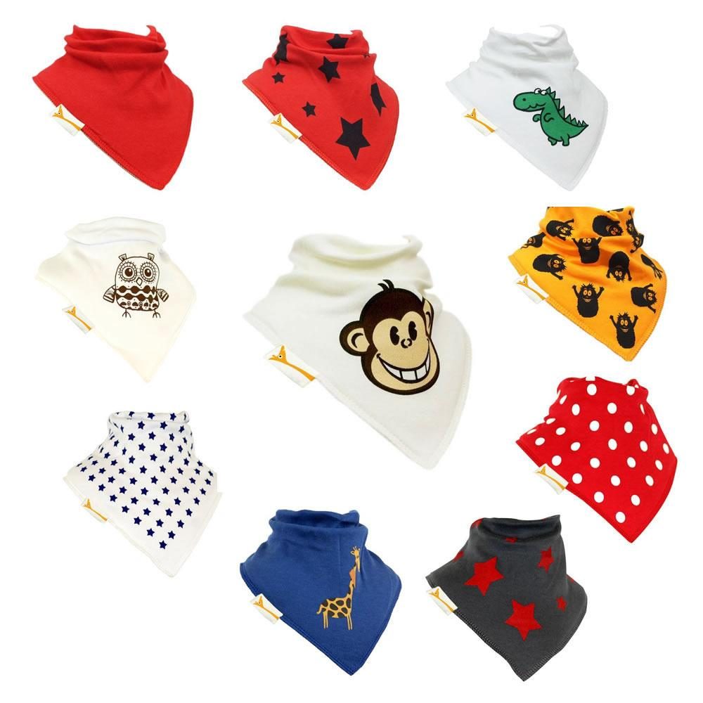 Monkey Set of Funky Giraffe Bandana Bibs (Set of 10)