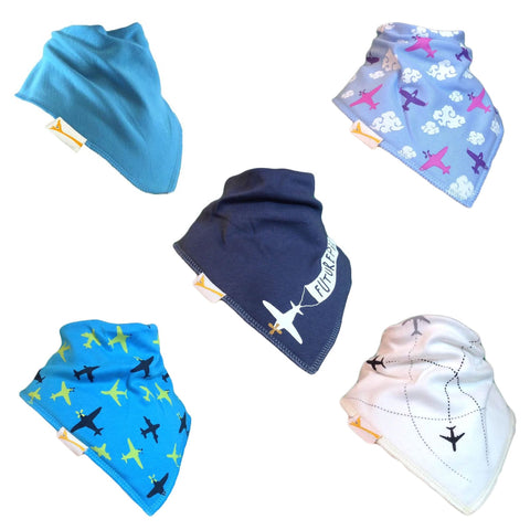 The Airline Collection Set of Funky Giraffe Bandana Bibs (Set of 5)
