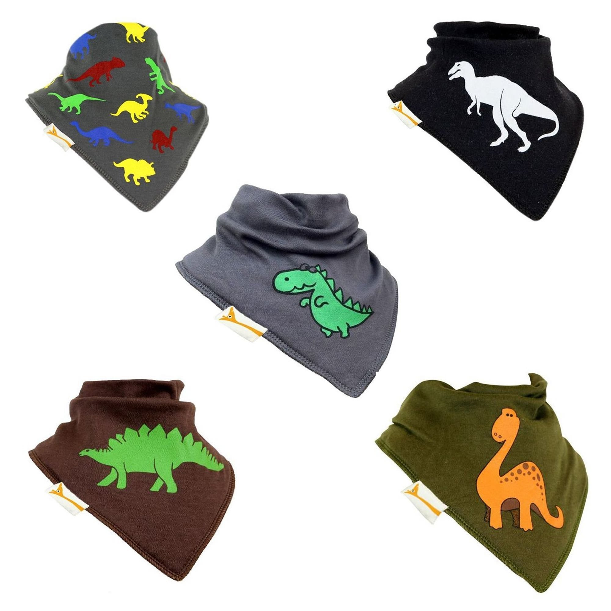 Roar! Set of Funky Giraffe Bandana Bibs (Set of 5)