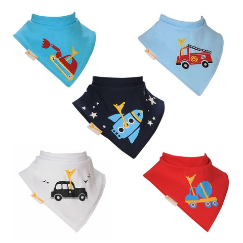 The Working Toddlers Funky Giraffe Bandana Bibs (Set of 5)