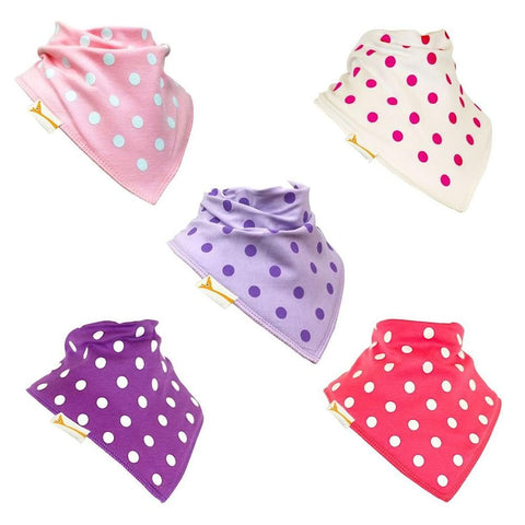 Going Dotty Funky Giraffe Bandana Bibs (Set of 5)