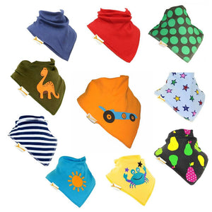 Sunny Summer Fun Set of Funky Giraffe Bandana Bibs (Set of 10)