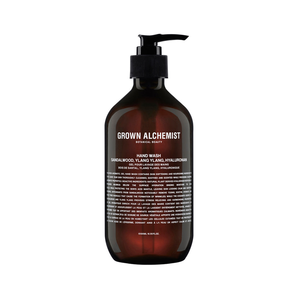 Hand Wash: Sandalwood, Ylang Ylang, and Hyaluronan