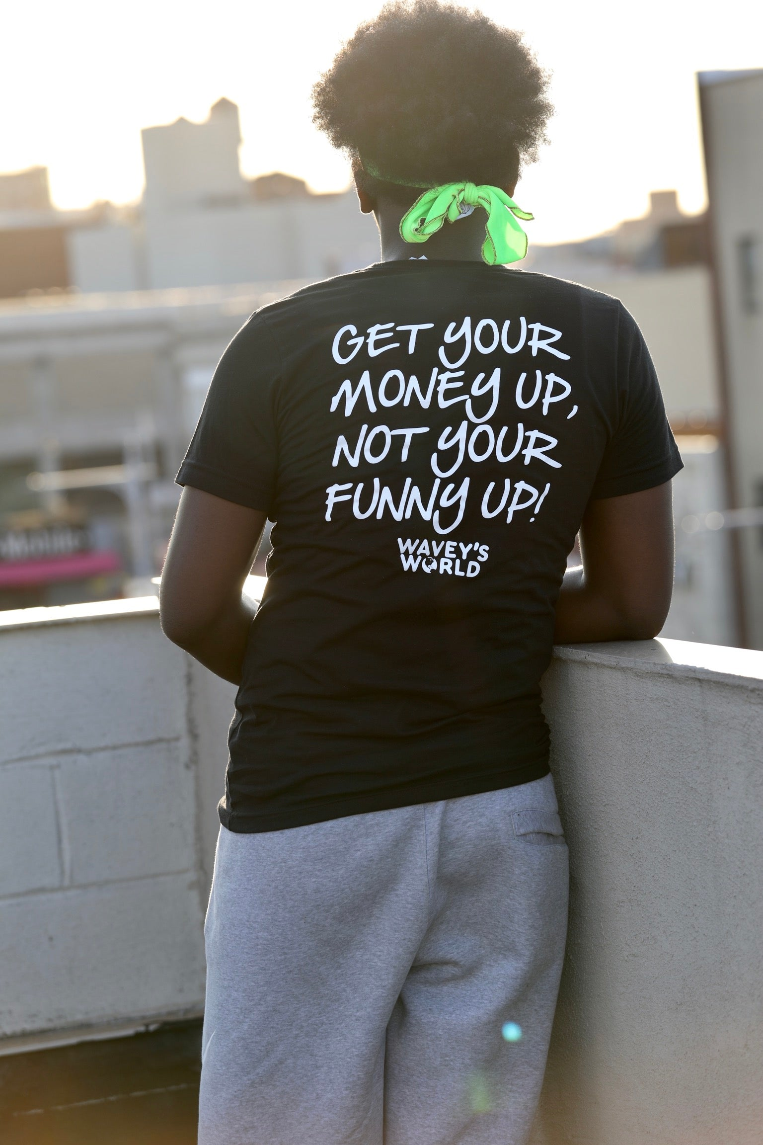 "Get Your Money Up, Not Your Funny Up Shirt Black ""Glow in the Dark"""
