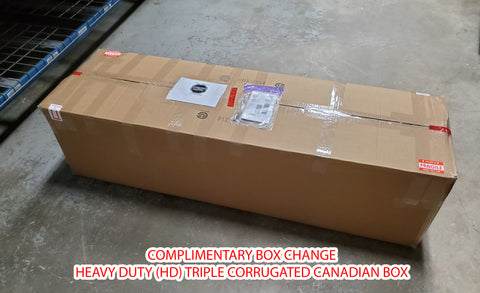 Heavy duty Canadian made triple corrugated cardboard box