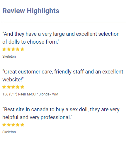 Realistic Reviews from Customers for Sex Doll Canada