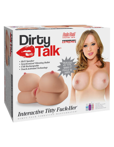 Pipedream Extreme Toyz Dirty Talk Interactive Titty Fuck-Her Premium Masturbator Life Size Lifelike Adult Real Realistic Love Sex Doll Canada