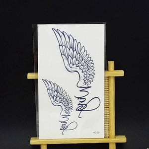 1pcs Small Crown Angel Wings Cat Pattern Temporary Tattoo Stickers