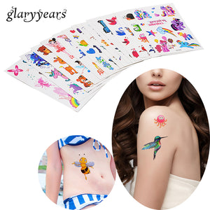 c34a80d00 3 Pieces/set Children Small Glitter Tattoo Decal Princess Butterfly Styling  Temporary Water Transfer Tattoo Sticker HS 6 Designs