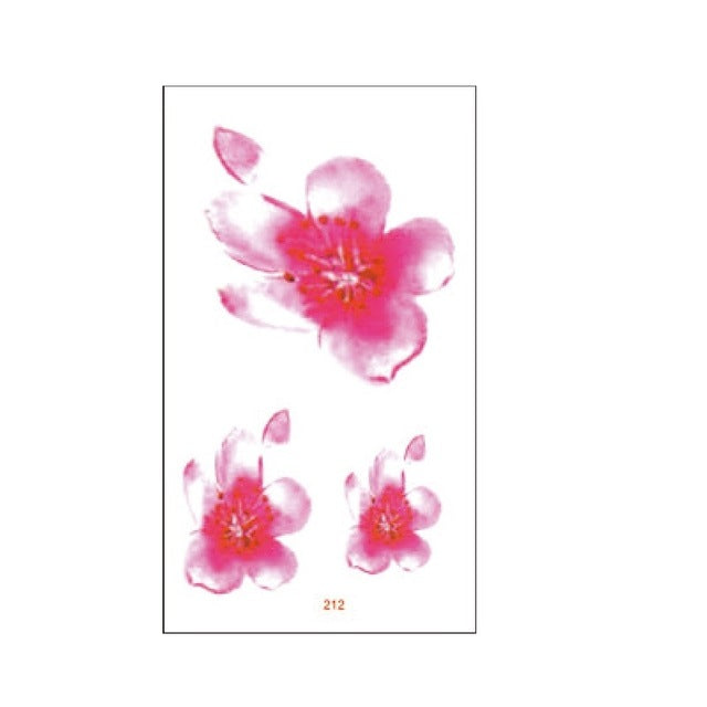 cb8907f52 ... Load image into Gallery viewer, 24 Designs Flower Waterproof Temporary  Tattoo Sticker Lotus Leaf Girl ...