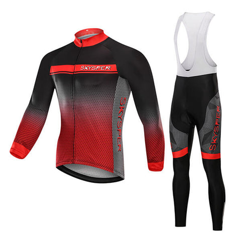 Men's Long Sleeve Kit - Red Grain - SKYSPER