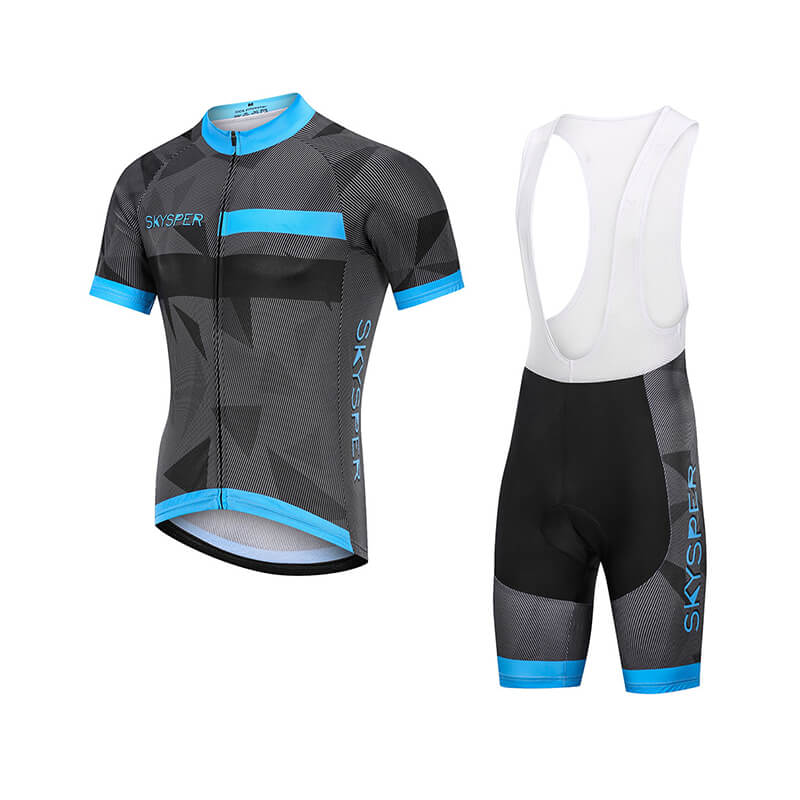 2019 Men's Short Sleeve Cycling Kit - BlueReflective
