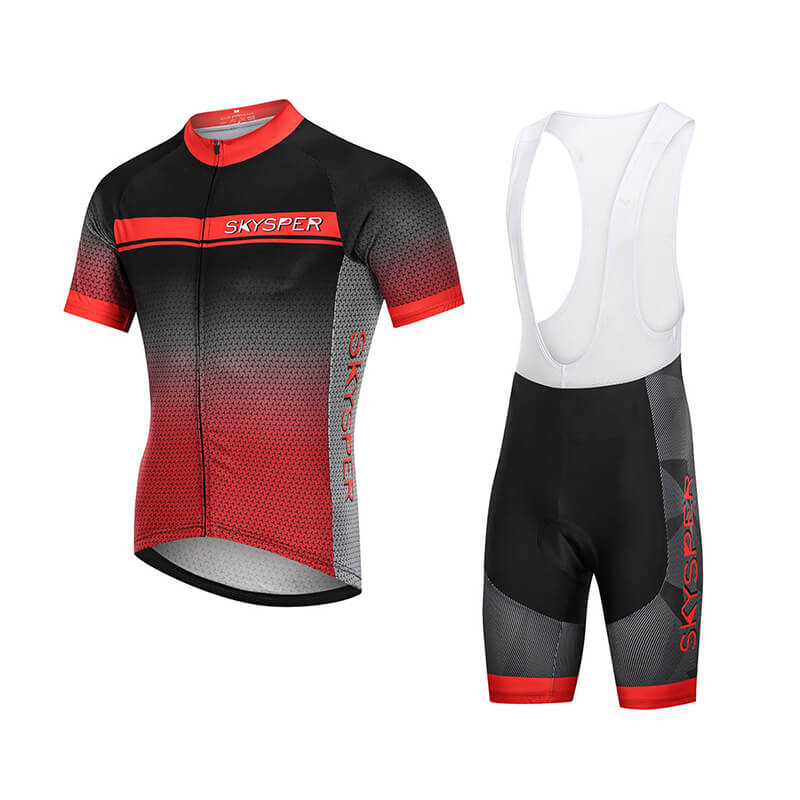 2019 Men's Short Sleeve Cycling Kit - RedReflective