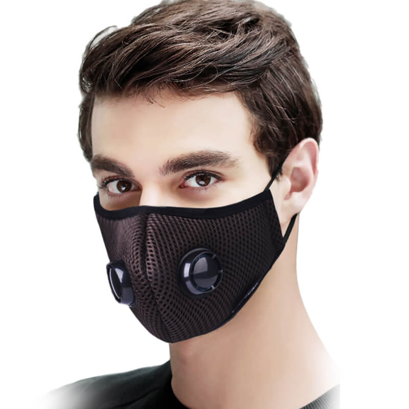 Super Breathable Mesh Design Dust Face Mask with Extra Filters