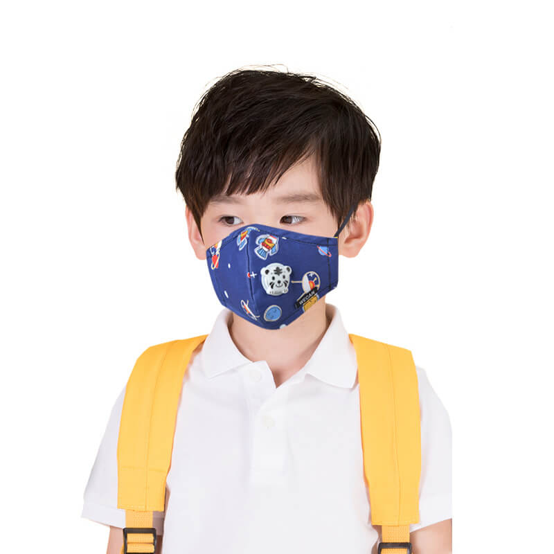 Kid's Dust Mouth Mask Children's Cartoon PM2.5 Anti Pollution Cotton Mask with N95 Respiration 10PCS Filters