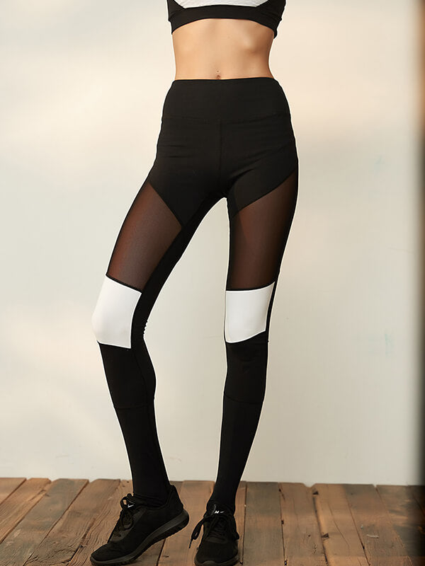High Waisted Splice Yoga Leggings