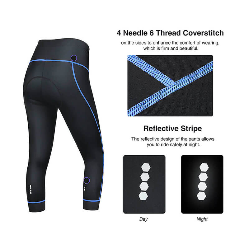 Women's Breathable 3/4 Cycling Tights - SKYSPER
