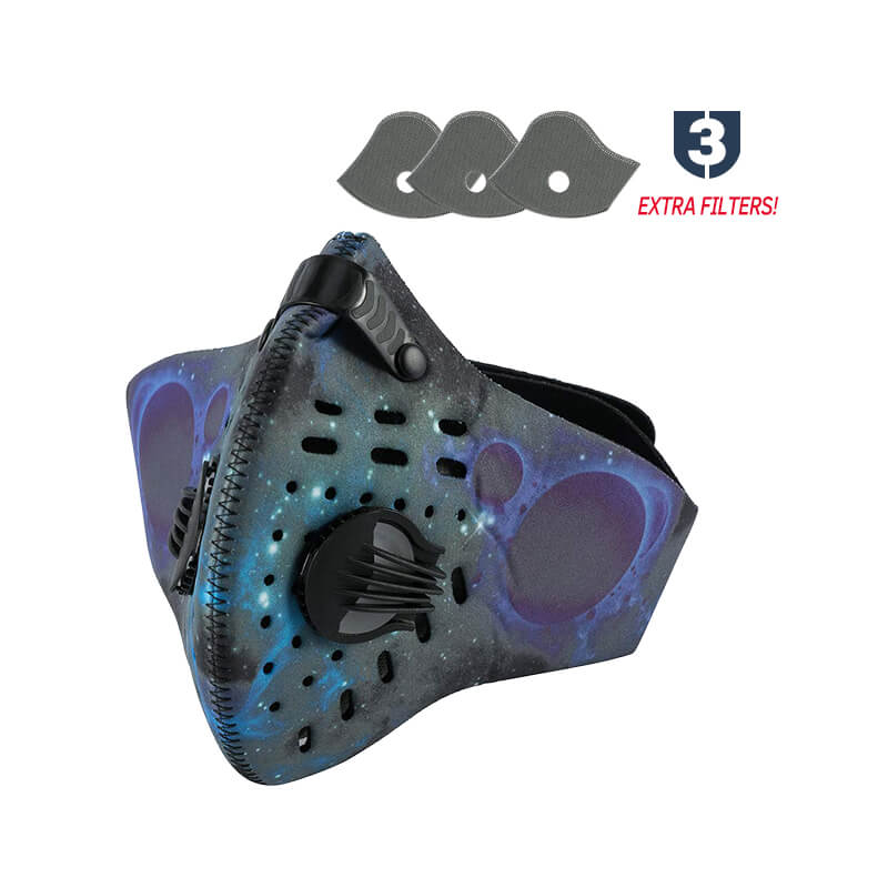 Dust Mask | Anti-Pollution Mask | Reusable Cycling Mask with Extra Filters Against Cold Weather