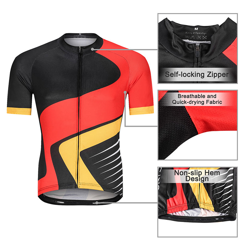 2019 Men's Short Sleeve Cyaling Kit - BlackRed